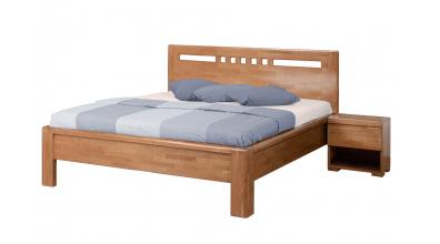 Manželská posteľ FLORENCIA čelo rovné, štvorčeky 160 cm, buk cink