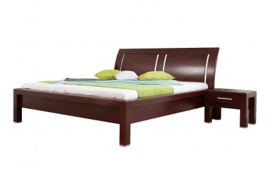 Manželská posteľ MANON s oblým čelom 3 výplňe 180cm buk cink