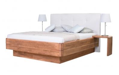 Manželská posteľ FANTAZIA GRANDE čelo čalúnené 180cm buk cink
