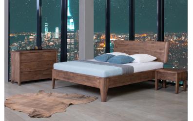Manželská posteľ FANTAZIE, nastaviteľné čelo šikmé 180 cm, dub cink