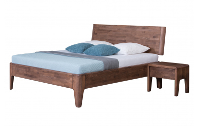 Manželská posteľ FANTAZIA  nastaviteľné čelo šikmé 180cm dub cink