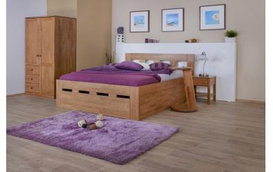 Manželská posteľ MERIDA Senior s úložným priestorom 180 cm buk cink