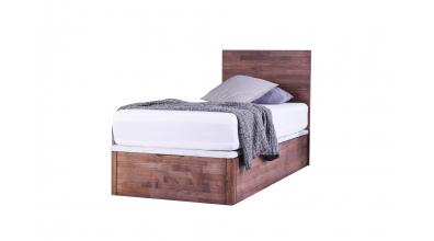 Jednolůžko DREAMBOX s dřevěným čelem, čelní výklop 90x200 cm, buk cink