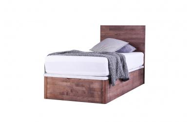 Jednolôžko DREAMBOX s dreveným čelom, čelný výklop 90x200 cm, buk cink