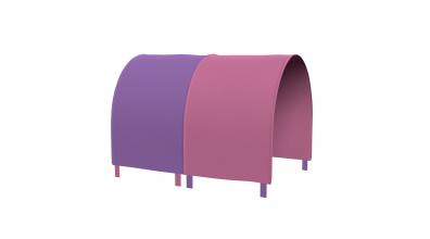 TUNEL na posteľ pre zábranu A B ružovo/fialový