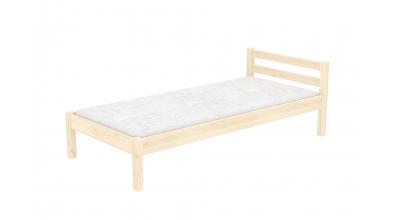 Jednolôžko s nízkym čelom smrek, detská posteľ z masívu