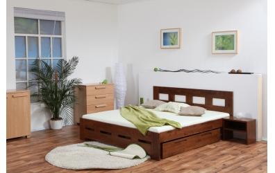 Manželská posteľ MERIDA 160 cm buk cink