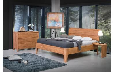 Manželská posteľ FANTAZIA  nastaviteľné čelo oblé 180cm dub cink