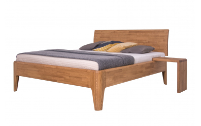 Manželská posteľ FANTAZIE, nastaviteľné čelo oblé 180 cm, dub cink