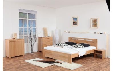Manželská posteľ VALENCIA 160 cm buk cink