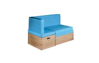 Rozkladacia sedačka s úložným priestorom buk cink