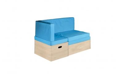 Rozkladacia sedačka s úložným priestorom smrek