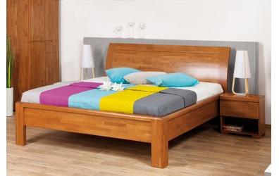 Manželská posteľ FLORENCIA čelo oblé plné 160 cm buk cink