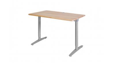 Písací stôl s kovovou podnožou  110cm buk cink