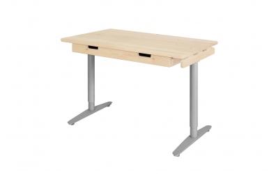 Písací stôl s kovovou podnožou 110 cm, smrek