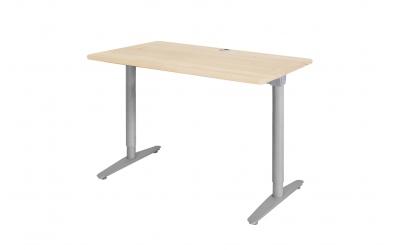 Písací stôl s kovovou podnožou  110cm smrek