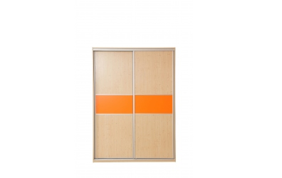 Skriňa s posuvnými dverami 160 cm lamino, dvierka smrek