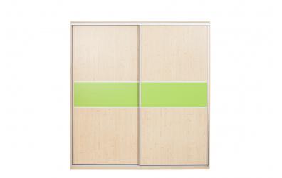 Skriňa s posuvnými dverami 195 cm lamino, dvierka smrek