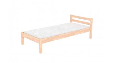 Jednolôžko s nízkym čelom, buk cink, detská posteľ z masívu