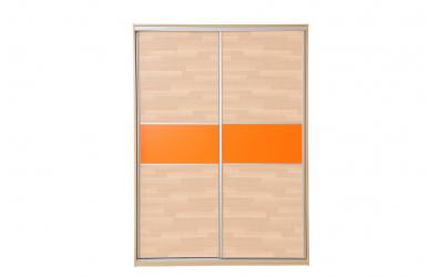 Skriňa s posuvnými dverami 160 cm lamino. dvierka buk cink