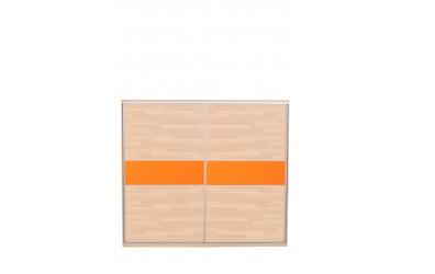 Skriňa s posuvnými dverami 250 cm lamino, dvierka buk cink