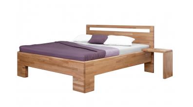 Manželská posteľ SOFIA, čelo rovné s výrezmi 180 cm, dub cink