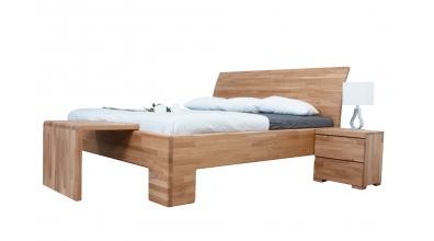 Manželská posteľ SOFIA  čelo oblé plné 180cm dub cink
