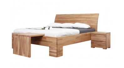Manželská posteľ SOFIA čelo oblé plné 180 cm, dub cink