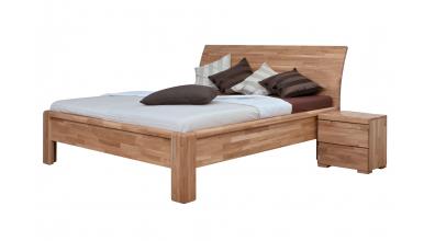 Manželská posteľ FLORENCIA čelo oblé plné 180 cm, dub cink