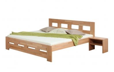 Manželská posteľ MERIDA 140 cm buk cink