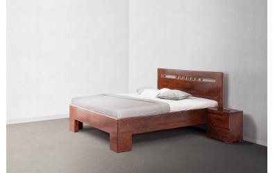 Manželská posteľ SOFIA  čelo rovné čtverečky 160cm buk cink