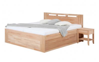 Manželská posteľ VALENCIA Senior s úložným priestorom 160 cm buk cink