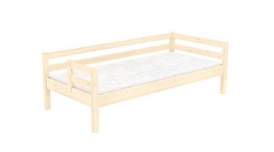 Jednolôžko s deleným čelom ľavé, smrek, detská posteľ z masívu