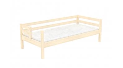 Jednolôžko s deleným čelom pravé, smrek, detská posteľ z masívu