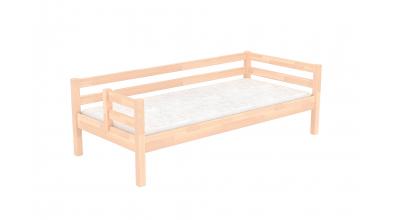 Jednolôžko s deleným čelom ľavé, buk cink, detská posteľ z masívu