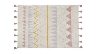 Koberec LORENA CANALS, aztécké vzory, pudrový