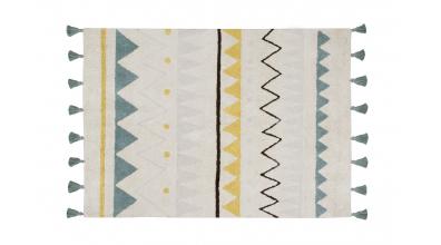 Koberec LORENA CANALS, aztécké vzory, vintage modrá L