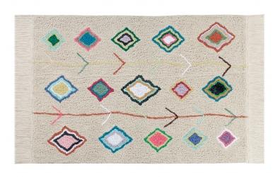 Koberec LORENA CANALS kosočtverce barevné, béžový