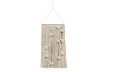 Dekorace na zeď LORENA CANALS kuličky bavlny, béžové