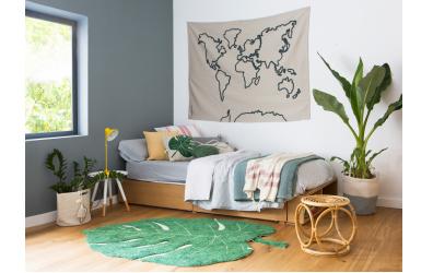 Dekorace na zeď LORENA CANALS mapa světa, přírodní