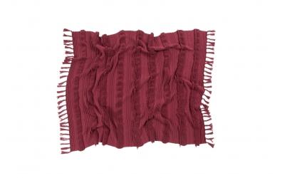 Deka LORENA CANALS pruhy strapce, červená