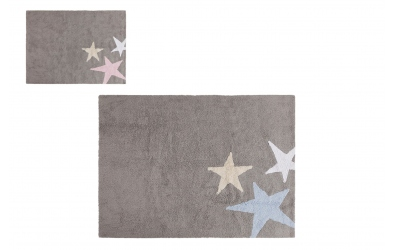 Koberec LORENA CANALS hvězdy, šedý (více variant)